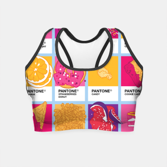 Thumbnail image of Pantone cafe Crop Top, Live Heroes