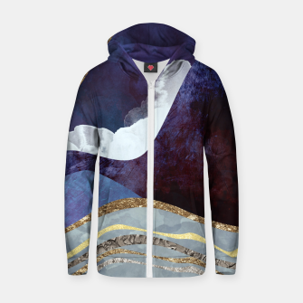 Thumbnail image of Midnight Cotton zip up hoodie, Live Heroes
