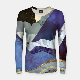 Thumbnail image of Midnight Woman cotton sweater, Live Heroes