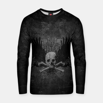 Thumbnail image of Skull with wings Cotton sweater, Live Heroes