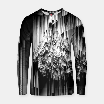 Haunted Static - Glitchy Pixel Abstract Art Cotton sweater thumbnail image