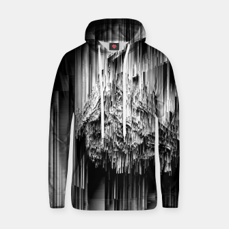 Haunted Static - Glitchy Pixel Abstract Art Cotton hoodie thumbnail image