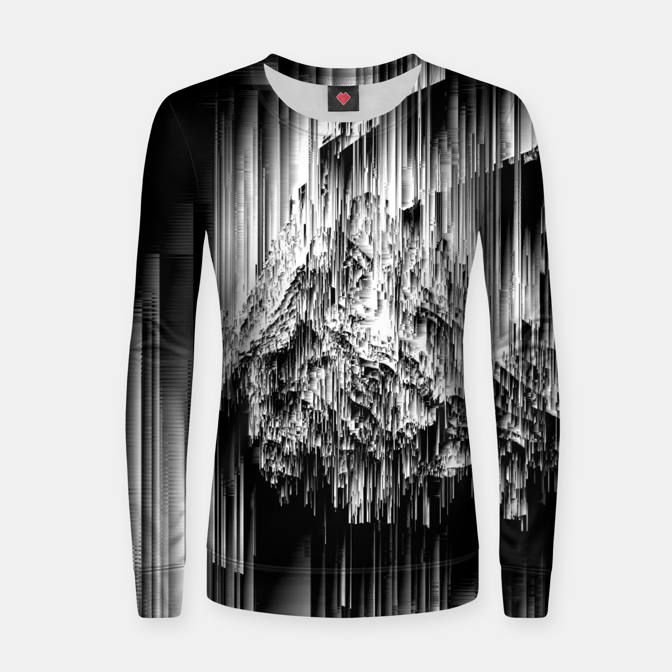 Image of Haunted Static - Glitchy Pixel Abstract Art Woman cotton sweater - Live Heroes