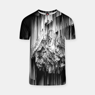 Haunted Static - Glitchy Pixel Abstract Art T-shirt thumbnail image