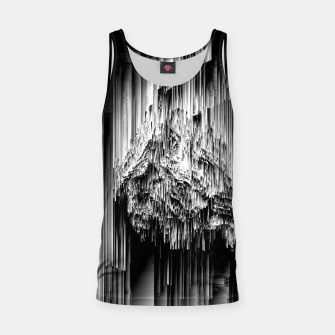 Haunted Static - Glitchy Pixel Abstract Art Tank Top thumbnail image