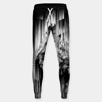 Haunted Static - Glitchy Pixel Abstract Art Cotton sweatpants thumbnail image