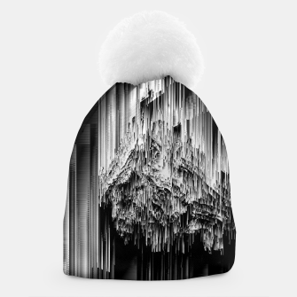 Haunted Static - Glitchy Pixel Abstract Art Beanie thumbnail image