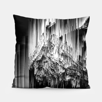 Haunted Static - Glitchy Pixel Abstract Art Pillow thumbnail image