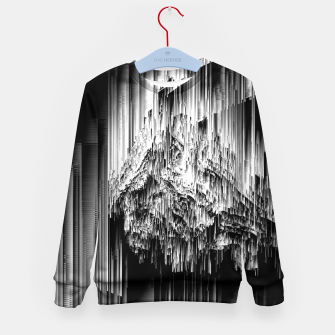 Haunted Static - Glitchy Pixel Abstract Art Kid's sweater thumbnail image