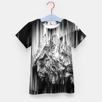 Haunted Static - Glitchy Pixel Abstract Art Kid's t-shirt thumbnail image