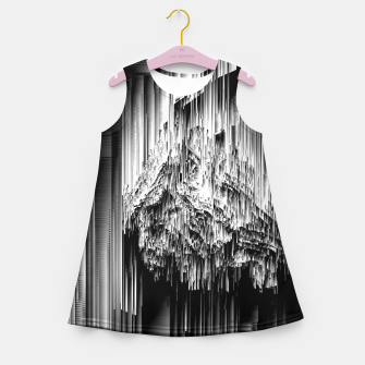 Miniature de image de Haunted Static - Glitchy Pixel Abstract Art Girl's summer dress, Live Heroes