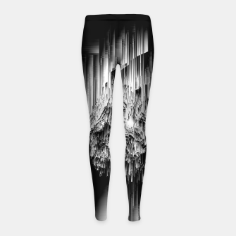 Haunted Static - Glitchy Pixel Abstract Art Girl's leggings thumbnail image