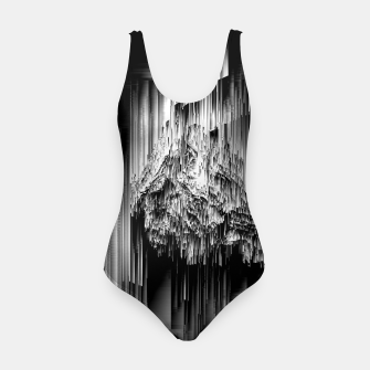 Haunted Static - Glitchy Pixel Abstract Art Swimsuit thumbnail image