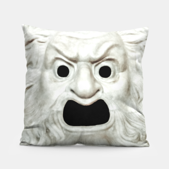 Miniature de image de Angry Theater Mask  Pillow, Live Heroes