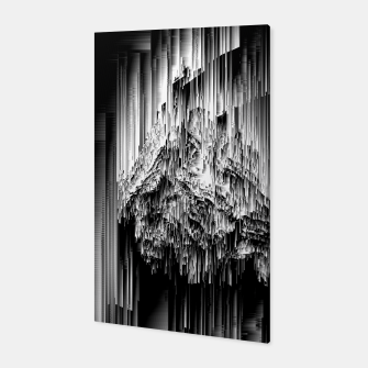 Haunted Static - Glitchy Pixel Abstract Art Canvas thumbnail image