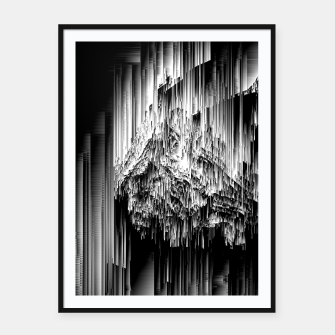 Haunted Static - Glitchy Pixel Abstract Art Framed poster thumbnail image