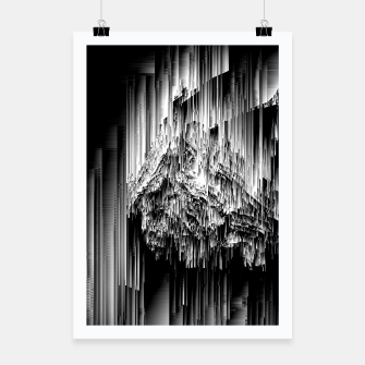 Haunted Static - Glitchy Pixel Abstract Art Poster thumbnail image
