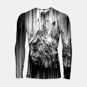 Haunted Static - Glitchy Pixel Abstract Art Longsleeve rashguard  thumbnail image