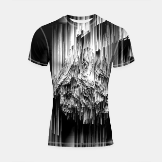 Haunted Static - Glitchy Pixel Abstract Art Shortsleeve rashguard thumbnail image