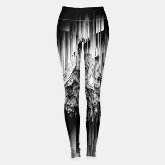 Haunted Static - Glitchy Pixel Abstract Art Leggings thumbnail image