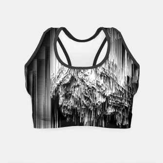 Haunted Static - Glitchy Pixel Abstract Art Crop Top thumbnail image