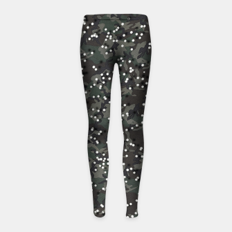 Miniatur Airsoft Camo Girl's leggings, Live Heroes