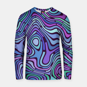 Miniaturka Chaos Color Lines Blue Cotton sweater, Live Heroes