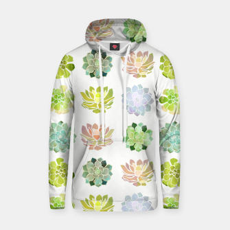 Thumbnail image of Spring Succulents Cotton hoodie, Live Heroes
