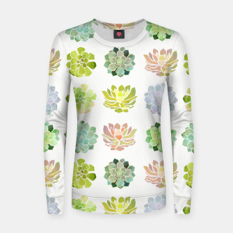 Thumbnail image of Spring Succulents Woman cotton sweater, Live Heroes