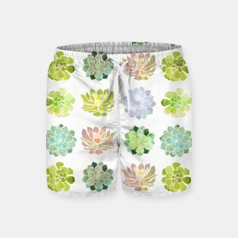 Thumbnail image of Spring Succulents Swim Shorts, Live Heroes