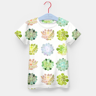 Thumbnail image of Spring Succulents Kid's t-shirt, Live Heroes