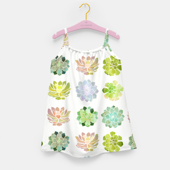 Thumbnail image of Spring Succulents Girl's dress, Live Heroes