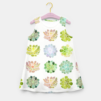 Miniature de image de Spring Succulents Girl's summer dress, Live Heroes