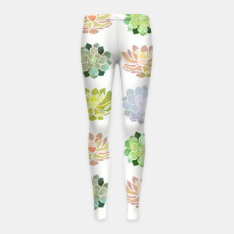 Thumbnail image of Spring Succulents Girl's leggings, Live Heroes