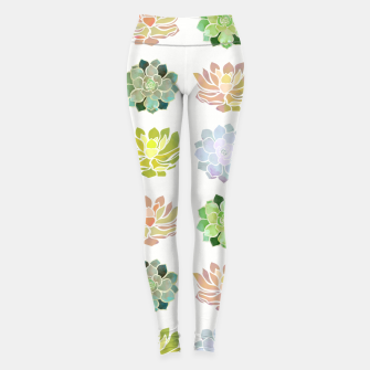 Thumbnail image of Spring Succulents Leggings, Live Heroes