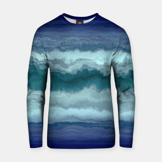 Thumbnail image of Stormy Weather Clouds Wave Cotton sweater, Live Heroes