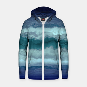 Thumbnail image of Stormy Weather Clouds Wave Cotton zip up hoodie, Live Heroes