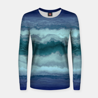 Thumbnail image of Stormy Weather Clouds Wave Woman cotton sweater, Live Heroes
