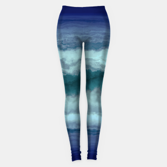 Thumbnail image of Stormy Weather Clouds Wave Leggings, Live Heroes