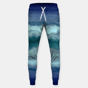 Thumbnail image of Stormy Weather Clouds Wave Cotton sweatpants, Live Heroes