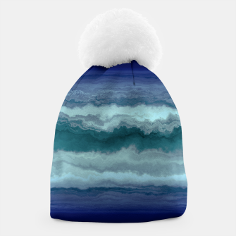 Thumbnail image of Stormy Weather Clouds Wave Beanie, Live Heroes