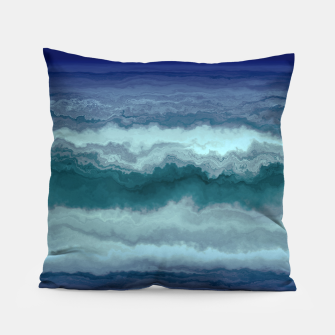 Thumbnail image of Stormy Weather Clouds Wave Pillow, Live Heroes