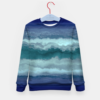 Thumbnail image of Stormy Weather Clouds Wave Kid's sweater, Live Heroes