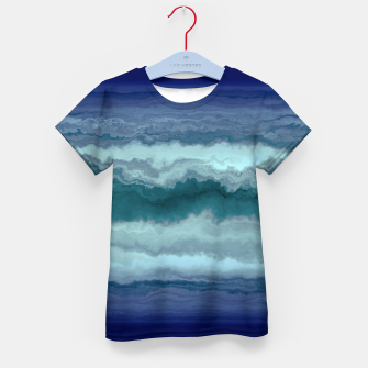Thumbnail image of Stormy Weather Clouds Wave Kid's t-shirt, Live Heroes
