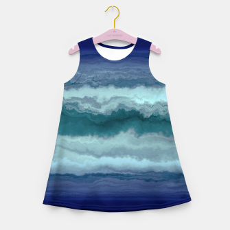 Miniature de image de Stormy Weather Clouds Wave Girl's summer dress, Live Heroes