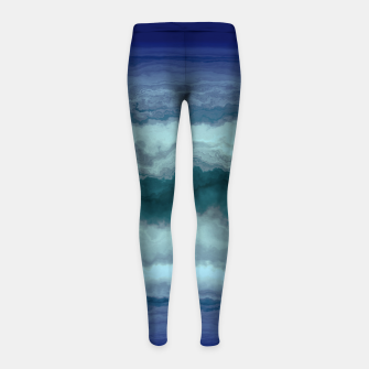 Thumbnail image of Stormy Weather Clouds Wave Girl's leggings, Live Heroes