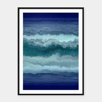 Thumbnail image of Stormy Weather Clouds Wave Framed poster, Live Heroes