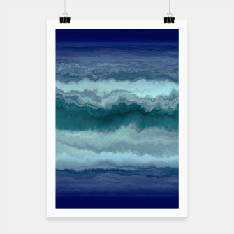 Thumbnail image of Stormy Weather Clouds Wave Poster, Live Heroes