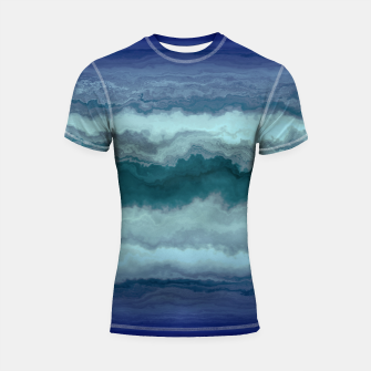 Thumbnail image of Stormy Weather Clouds Wave Shortsleeve rashguard, Live Heroes
