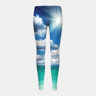 Thumbnail image of Clear day Girl's leggings, Live Heroes